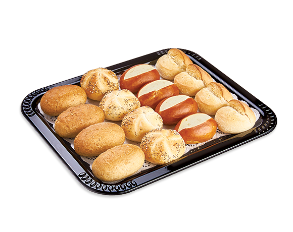 Plat de petits pains assortis uniquement disponible dans les restaurants et take away
